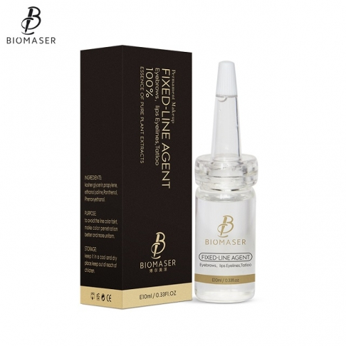 Biomaser Microblading Pigment Fixing Agent Permanent Makeup Ink Color Lock Assistence Eyebrow Fixed-line Tattoo Accessory