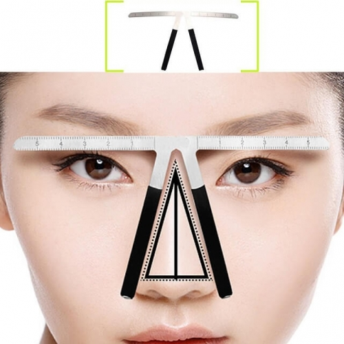 Tattoo Eyebrow Ruler Three-Point Positioning Permanent Makeup Symmetrical tool Grooming Stencil Shaper Balance Ruler