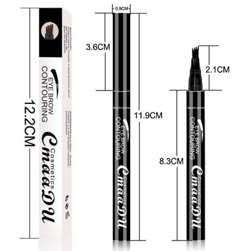 1pcs Eyebrow Tattoo Pen, Microblading Eyebrow Pen, Tattoo Eyebrow With Precision Applicator Long Lasting, Waterproof, Smudge Proof For Fuller Natural
